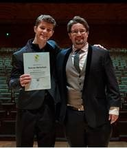 Marcus Michelson winning the Aust Bach Society Award